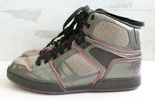 OSIRIS NYC 83 SLM ULT Girls Gray Purple Pink Skate Shoes High Tops Womens Sz 10