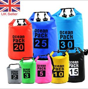 Waterproof Dry Bags Sack Canoe Kayak Camping Hiking Fishing 2/3/5/10/15/20/30L