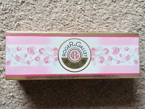 Roger & Gallet Rose Perfumed Soap Coffret 3 x 100g New Box Soaps