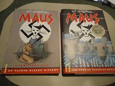 Maus-Art Spiegelman- Vols. 1 & 2 -1986 &1991-Pulitzer Graphic Novel-Holocaust