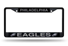 Philadelphia Eagles Metal BLACK License Plate Frame Auto Truck Car NFL