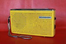 ANCIEN POSTE RADIO TRANSISTOR POCK JAUNE  SCHNEIDER  VINTAGE ANNÉES 60 / 70