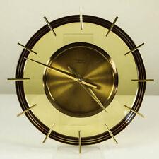 Diehl electra Wanduhr Glas Messing Quartz Werk Junghans Vintage Wall Clock