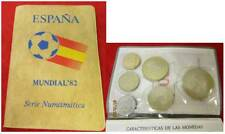 6 spanische Münzen Fußball WM 1982 im Etui Coleccion de Monedas Espania 82 /S296