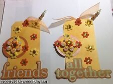 Friend Tag Set Yellow Color Scrapbook Mats Gifts