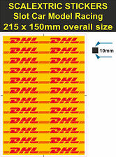 Slot car / Scalextric stickers Model Race DHL Logo Lego decal adhesive vinyl T2
