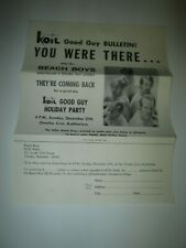 Vintage Original Beach Boys Koil Radio Good Guy Party Flyer Poster Advertising