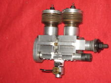 UNKNOWN HOMEMADE? INLINE TWIN .60? R/C NITRO MODEL AIRPLANE ENGINE wST CARB