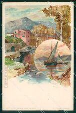 Genova Rapallo Barche a Vela Wielandt cartolina RT0496