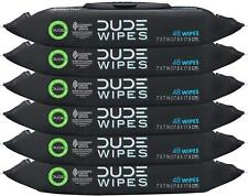 Dude Wipes Flushable Wipes Dispenser, Unscented 48 Hypoallergenic Wipes, 6 Pk