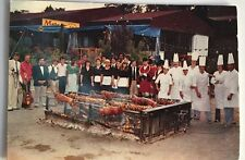 Vintage Photo Postcard Giant Outdoor BBQ Barbecue