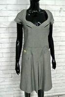 GAS Vestito Tubino Donna Taglia 42 Abito Dress Woman Kimono Lana Elastico Grigio