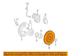 FORD OEM Rear Brake-Rotor 2U2Z1V125EB