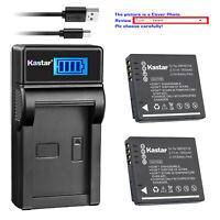 Kastar Battery LCD Charger for Panasonic DMW-BCF10 & Panasonic Lumix DMC-TS3