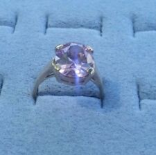 9ct Gold pink Cubic zirconia Ring size N