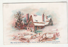 My Help Cometh From the Lord Who Made Heaven & Earth Religious Vict Card c1880s