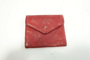 Authentic CHANEL Bicolore Leather Black Purse Wallet  #9785