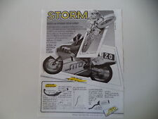 advertising Pubblicità 1987 MARMITTE SITO STORM e MBA 125/MACCIOTTA/ALEX PUZAR