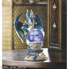 Gothic Gifts Dragon Collectors STATUE Figurine Fantasy Mantel Shelf Crystal Ball