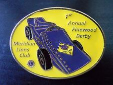 Meridian Lions Club Pin 1st Annual Pinewood Derby Cub Scouts