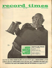RECORD TIMES NEWSPAPER 1964 05 MAY frick/vaughan williams/bartok/rosen on ravel