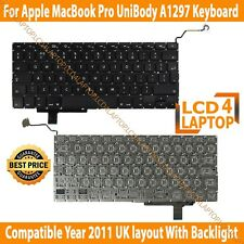 "Apple MacBook PRO 17"" UniBody A1297 New keyboard UK Including Backlight"