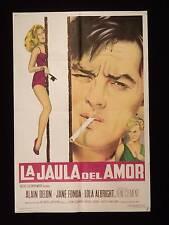 LES FÉLINS (1964) * ALAIN DELON * JANE FONDA * ARGENTINE 1sh MOVIE POSTER