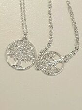 Brand New Tree Of Life Silver Plated Necklace And bracelet Set with bag