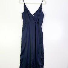 The Fifth Label Womens Navy Blue Wrap V Neck Sleeveless Jumpsuit Size Medium
