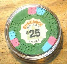 (1) $25. Sundance CASINO CHIP - Las Vegas, Nevada - 1980