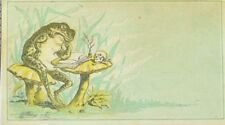 1870's-80's Anthropomorphic Frogs #3 Victorian Trade Card F103