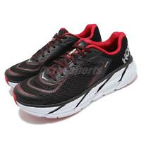 Hoka One One Napali Black Red White Mens Cushion Running Shoes 1091609-BRNR