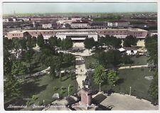 0255 ALESSANDRIA CITTÀ - STAZIONE - GIARDINI PUBBLICI Cartolina FOTOGRAFICA 1954