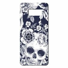 For Samsung Galaxy S8 Silicone Case Skull & Flowers Pattern - S491
