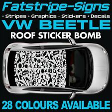 VW BEETLE GRAPHICS STICKERS STRIPES DECALS VOLKSWAGEN V DUB R LINE 1.6 1.8 TURBO