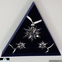 Swarovski 2011 Christmas Annual Edition Set of 3 Ornaments #1092039  *NIB*