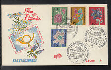 A-110) Germany 1963 First Day Cover  - Flora and Philately
