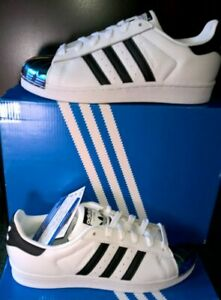 NWT$130 Adidas-Superstar-Metal-Toe- W Casual-Shoes-White-Women US 6,5 Indonesia