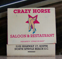 Rare Vintage Matchbook N2 North Myrtle Beach South Carolina Crazy Horse Legs