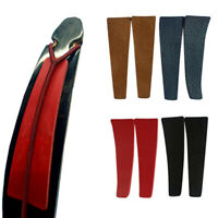 Archery Bowstring Stabilizer Leather Recurve Bow Limb Silencer Pads Strip Cover