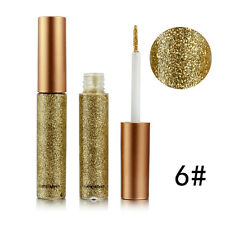 10Color Waterproof Shiny Smoky Eyeshadow Glitter Liquid Eyeliner Metallic Makeup