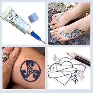 Black Jagua Temp Tattoo inkbox Kit last 10-15 day not henna PPD real look! tf