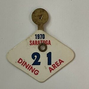 FREE SHIPPING vintage 1970 Saratoga Race Track Dining Area pin