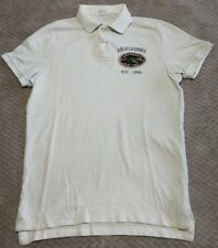 AMBERCROMBIE & FITCH POLO DESIGNER WHITE T TEE SHIRT MENS GENTS MEDIUM