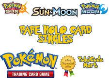 Pokemon TCG Sun & Moon Base Set Rare Holo, GX, Half Art, Full Art Single Cards