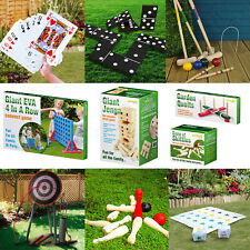Giant Garden Games Outdoor Summer Beach BBQ Party Kids Fun Quoits Jenga Limbo