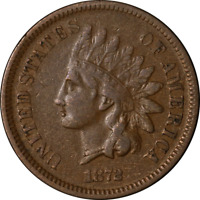 1872 Indian Cent Nice VF Nice Eye Appeal Nice Strike