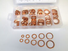 Solid Copper Washers for Sump Plugs and Oil ways - 140 Piece Set