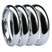 9ct White Gold Court Comfort Wedding Rings Bands 2mm 3mm 4mm 5mm 6mm 375 UK HM