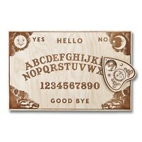 "Classic Ouija Spirit Board Wooden Handmade 11""x7"" Wood Talking Game Halloween"